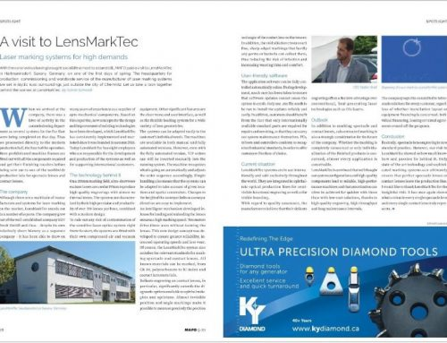 05/2020 | MAFO – Ophthalmic Labs & Industry | A visit to LensMarkTec